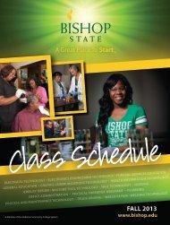 2013 Fall Class Schedule (PDF) - Bishop State Community College