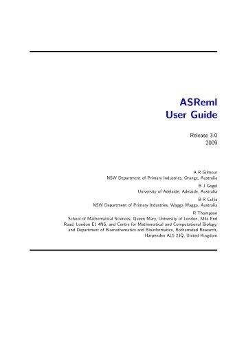 Asreml-r package download.