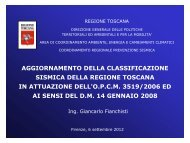 Ing. Giancarlo Fianchisti - Regione Toscana