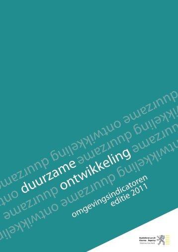Duurzaamheidsmonitor 2011 - Vlaanderen.be