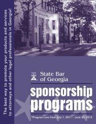 Corporate Sponsorship Brochure - State Bar Of Georgia