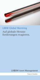 LBBW Glob - LBBW Asset Management Investmentgesellschaft mbH