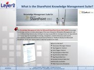 What is the SharePoint Knowledge Management ... - Layer 2 GmbH