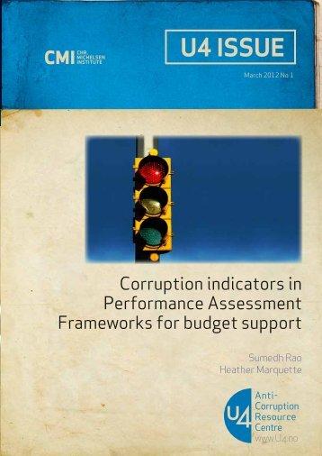 Corruption indicators in Performance Assessment Frameworks for ...
