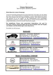 Unsere Sponsoren Automobil Bauen / Innenausbau / Unterhalt