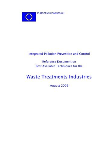 Waste Treatment Best Available Techniques Reference Document