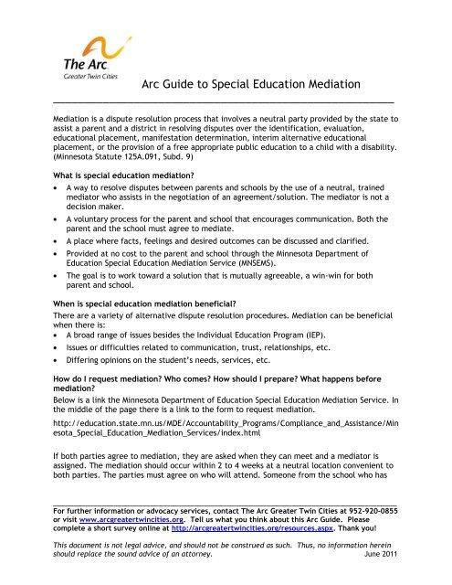 Resolving Special Ed Disputes >> Img Yumpu Com 32070228 1 500x640 Arc Guide To Spec