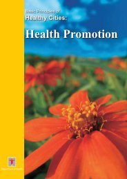 Basic Principles of Healthy Cities: Health Promotion
