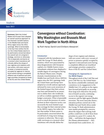 Convergence without Coordination - Transatlantic Academy