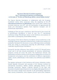 Press Release - Stavros Niarchos Foundation