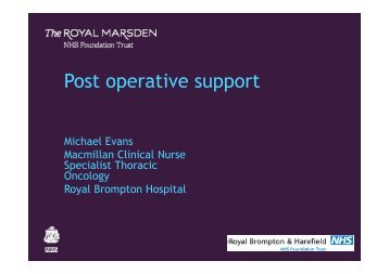 Download presentation (PDF) - The Royal Marsden