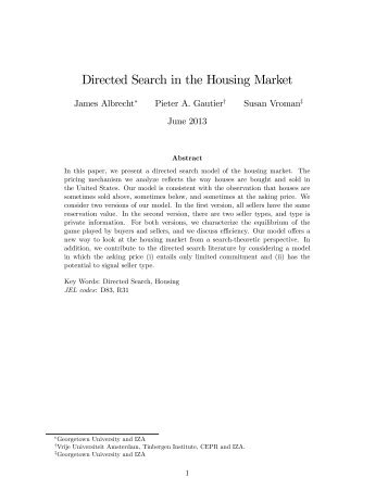Directed Search in the Housing Market