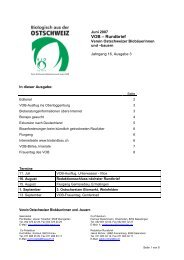 VOB – Rundbrief - biolandbau.ch