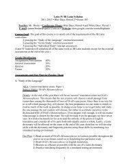 1 Latin IV/IB Latin Syllabus 2011-2012 • Blue Days, Period 2 • Room ...