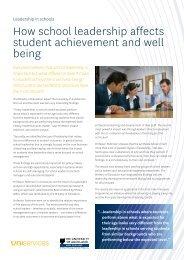 How school leadership affects student achievement ... - UniServices