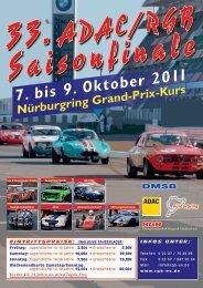 7. bis 9. Oktober 2011 Nürburgring Grand-Prix-Kurs - Rgb-ev.de