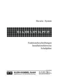Havarie-System - Klein + Hummel