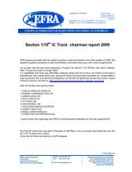 Section 1/10 IC Track chairman report 2009 - Efra.ws
