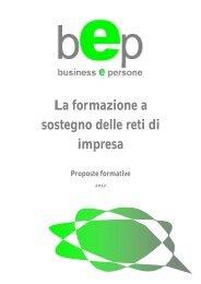 La formazione a sostegno delle reti di impresa - bep business e ...