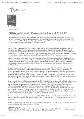 Luglio-Agosto 2011/parte 2 - Ilportico.it