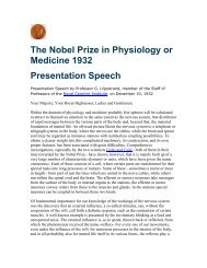 The Nobel Prize in Physiology or Medicine 1932 ... - BACK