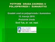 Potpore Grada Zagreba u poljoprivredi i Å¡umarstvu - Zagreb.hr