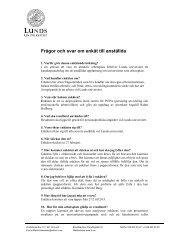 Frågor och svar om enkät till anställda - Lunds universitet