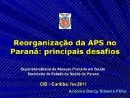 Superintendência de Atenção Primária em Saúde - Secretaria da ...