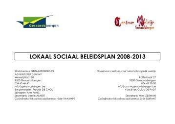 LOKAAL SOCIAAL BELEIDSPLAN 2008-2013 - Vlaanderen.be
