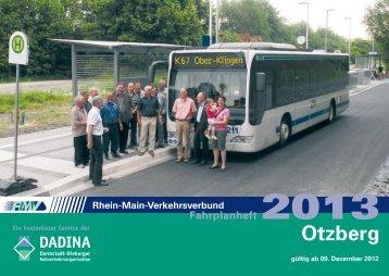 RMV, Fahrplan der Gemeinde Otzberg