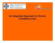 An Integrated Approach to Chronic Conditions Care