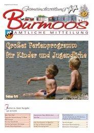 Großes Ferienprogramm für Kinder und Jugendliche - Gemeinde ...