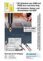 VHM Fasfräser - Riwag Präzisionswerkzeuge AG