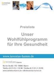 Preisliste 2013 - iuventas Hamm