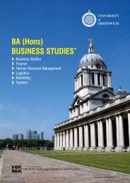 BA(Hons)Business Studies - Hong Kong Management Association