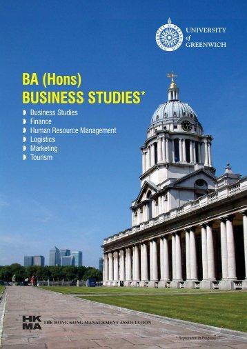 BA(Hons)Business Studies - Hong Kong Management Association