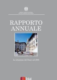 Rapporto annuale sulla situazione del Paese nel 2005 - Istat
