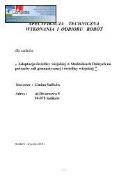 specyfikacja techniczna wykonania i odbioru robót - Gmina Sulików