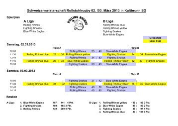 A Liga B Liga Schweizermeisterschaft ... - Rolling Rhinos