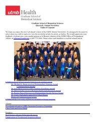 Summer2012 - The Graduate School of Biomedical Sciences