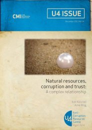 Natural resources, corruption and trust - CMI