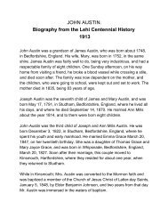 JOHN AUSTIN. Biography from the Lehi Centennial ... - Lehi City