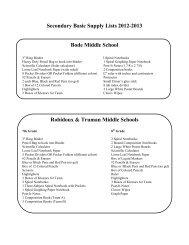 Secondary Supply Lists 12-13 - St. Joseph School District