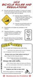 UCI Bike Rules and Regulations - Wellness