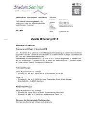 Zweite Mitteilung 2012 - Studienseminar Heppenheim