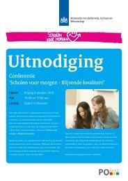 Conferentie 'Scholen voor morgen - Blijvende kwaliteit!'