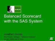 Balanced Scorecard with the SAS System - sasCommunity.org