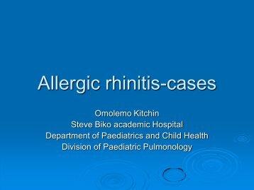 Allergic rhinitis-cases