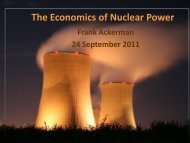 The Economics of Nuclear Power