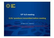 Answers to Questions from the ILO's - Iter Industry